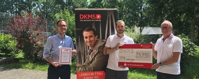 Check-Übergabe an die DKMS